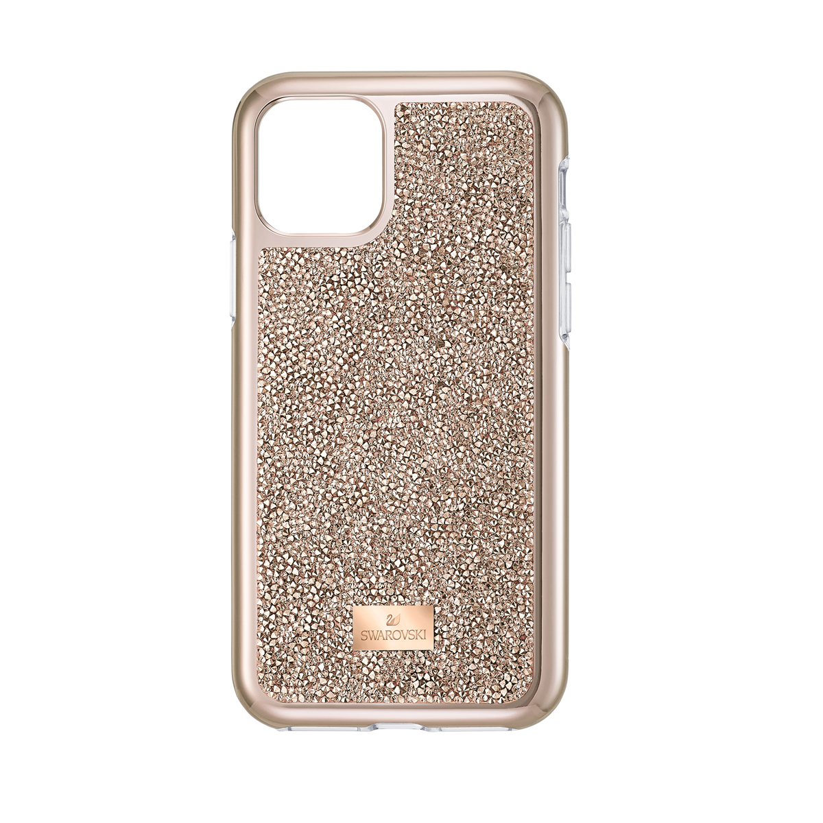 Swarovski Mobile Phone Case Glam Rock iPhone 11 Pro Case Rose Gold Stainless Steel Shiny Pro