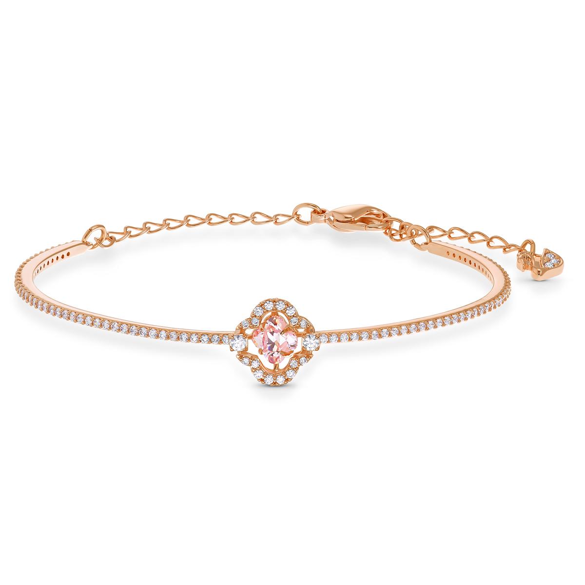 Swarovski Bracelet Sparkling Dance Bangle Crystal Rose Gold M