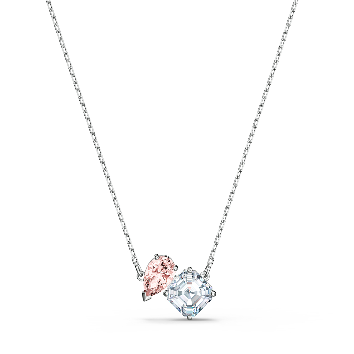 Swarovski Necklace Attract Soul Necklace Pink Crystal Rhodium Silver