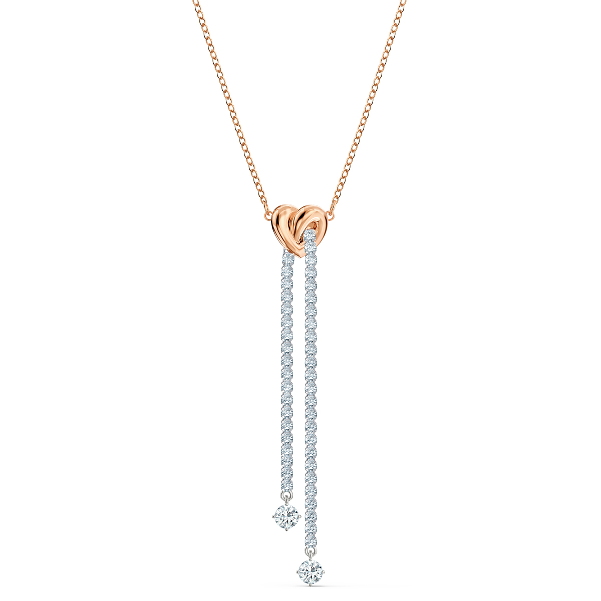 Swarovski Crystal Lifelong Heart Cupchain Necklace