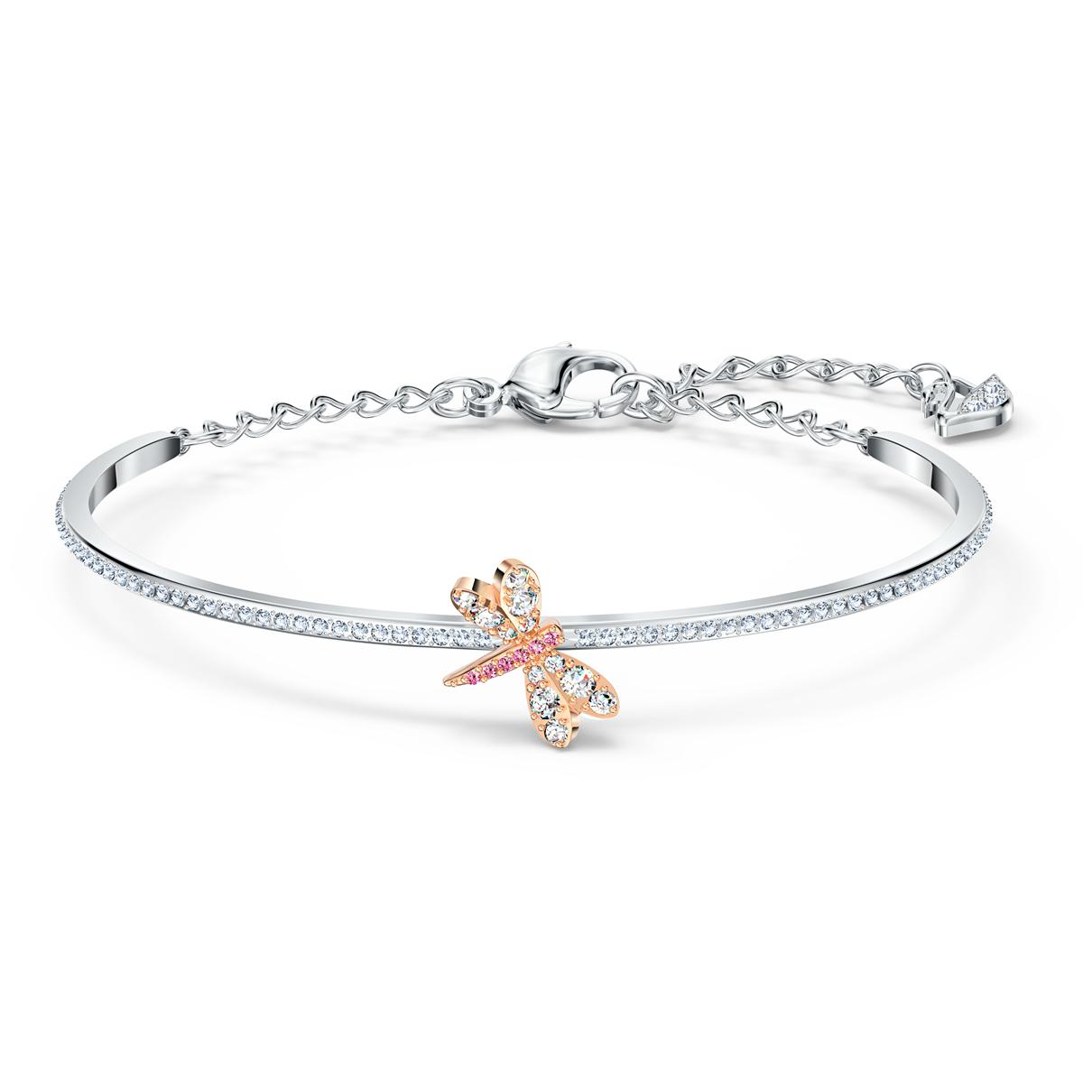 Swarovski Bracelet Eternal Flower Dragonfly Light Multi Rose Gold M