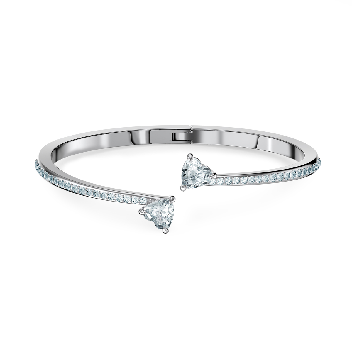 Swarovski Bracelet Attract Soul Bangle Heart Crystal Rhodium Silver M