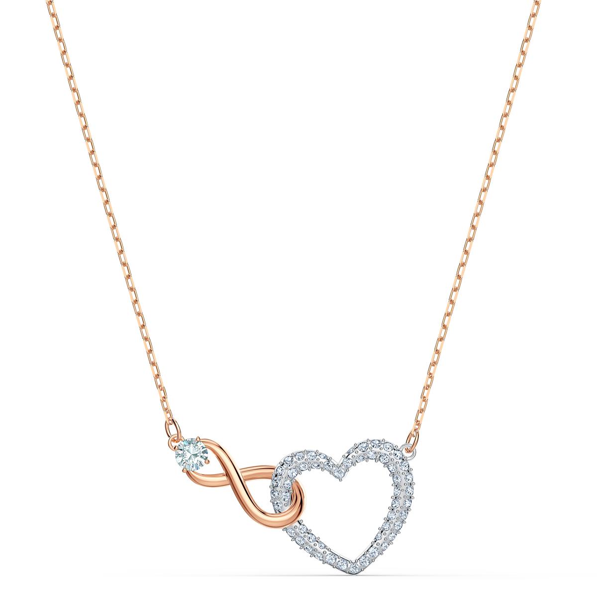 Swarovski Necklace Infinity Necklace Heart Infinity Crystal Rose Gold
