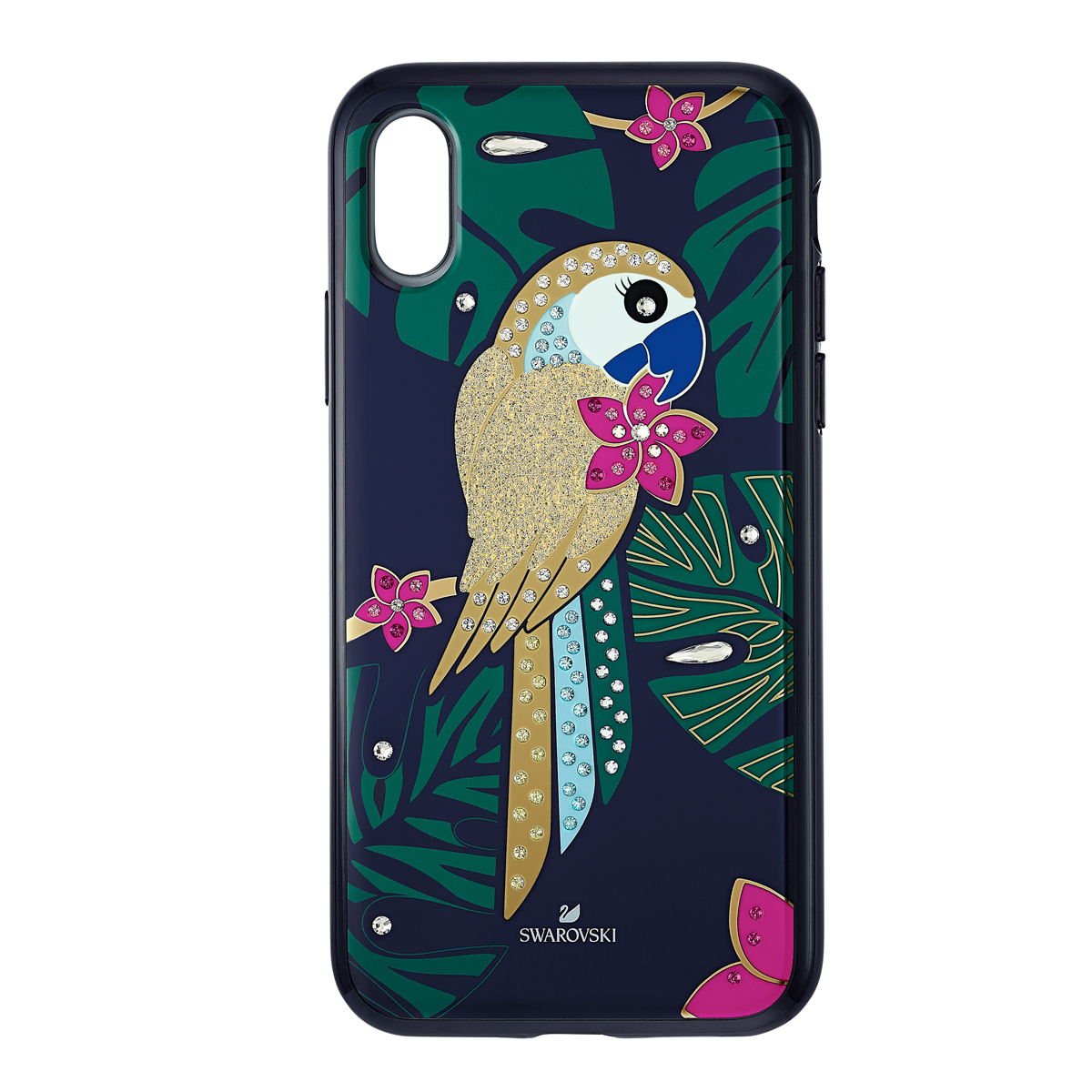 Swarovski Mobile Phone Case Tropical iPhone X Case Multi Parrot