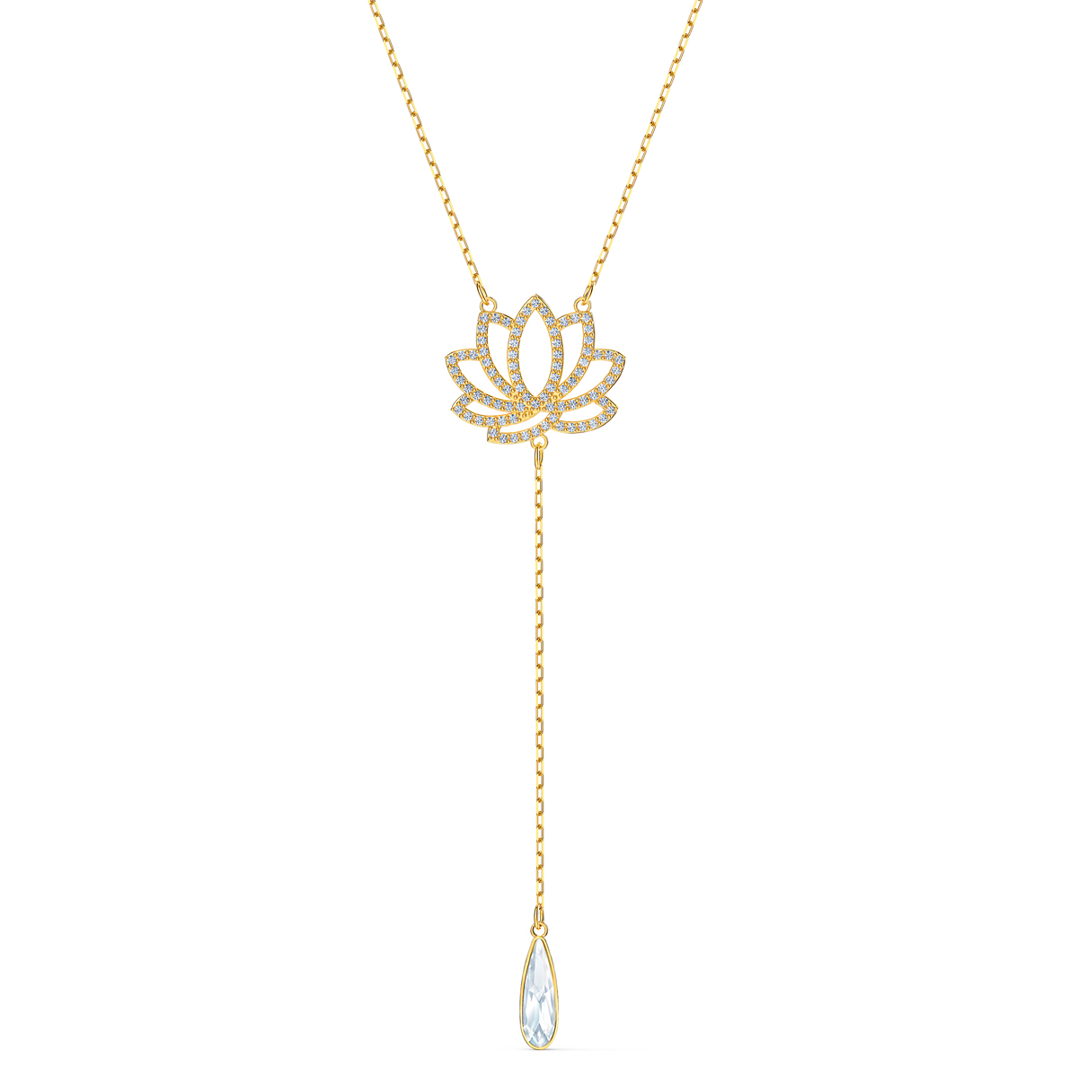 Swarovski Necklace Symbol Necklace Lotus Light Multi Gold