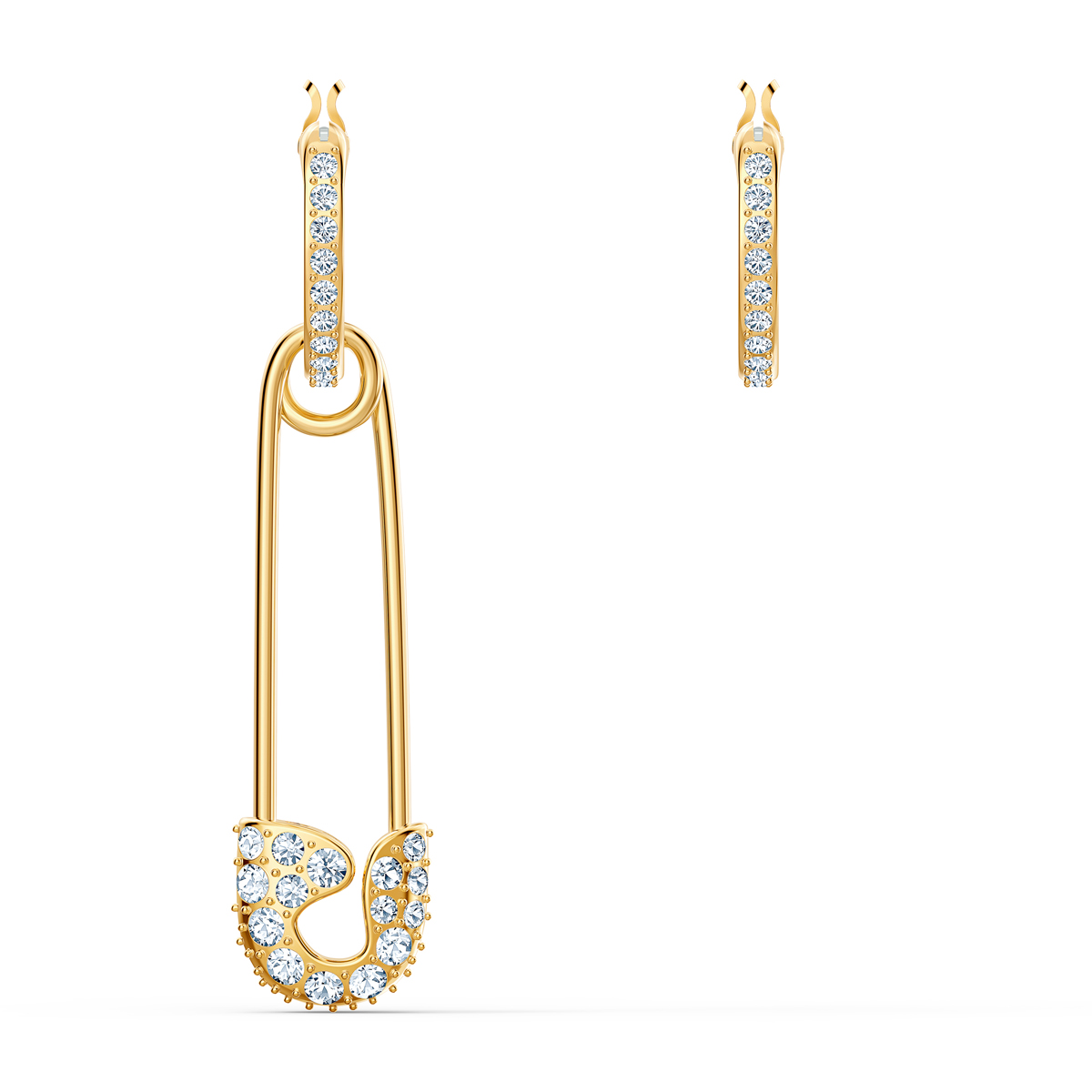 Swarovski So Cool Pierced Earrings Gold