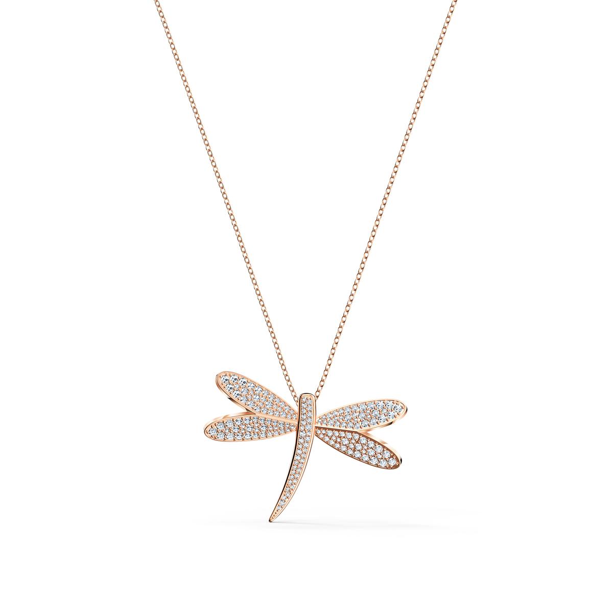 Swarovski Necklace Eternal Flower Necklace Long Light Multi Rose Gold