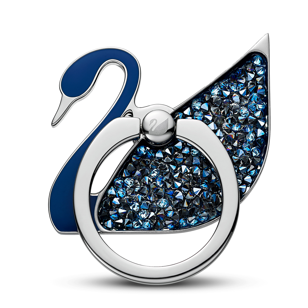 Swarovski Mobile Phone Case Swan Ring Stickers Blue Stainless Steel