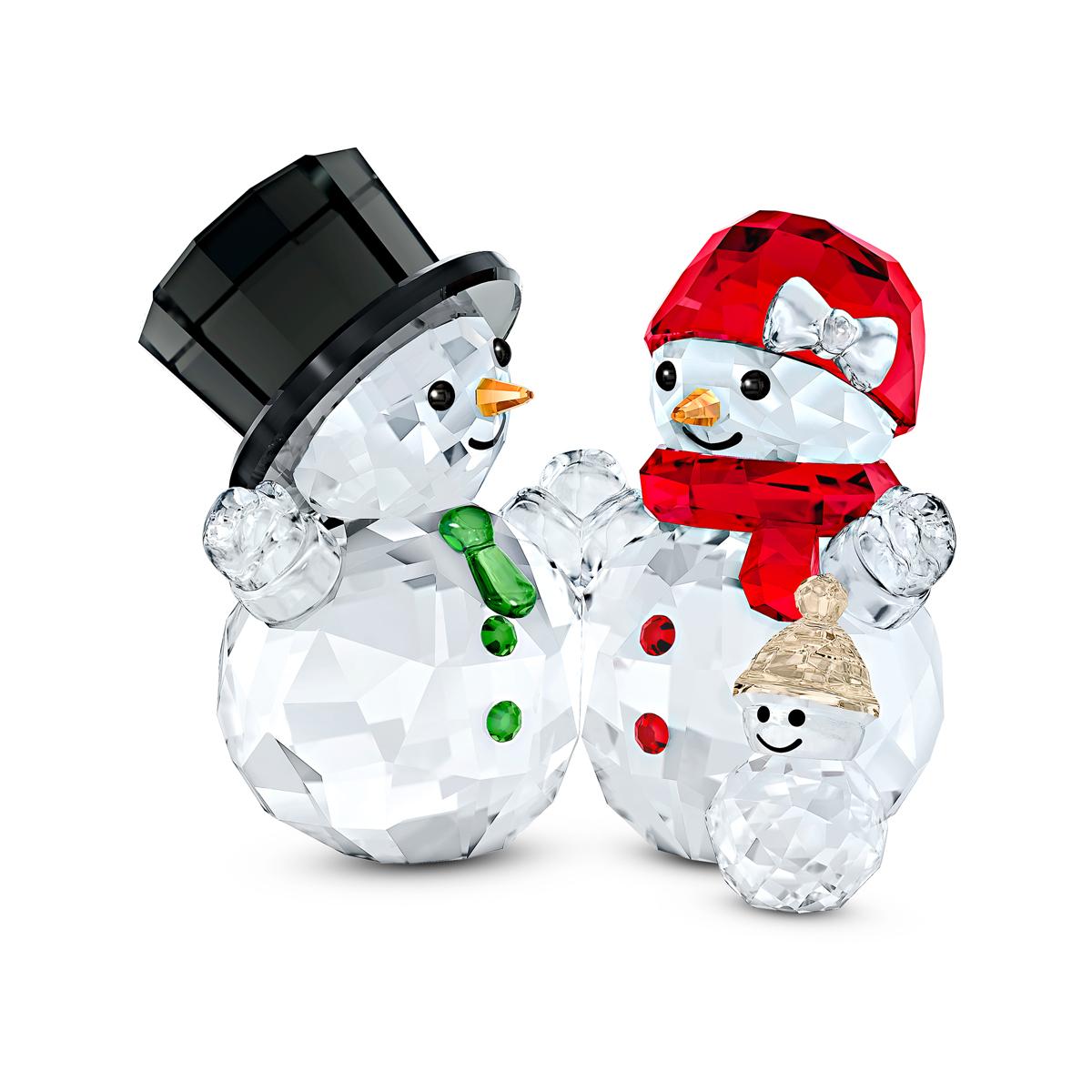Swarovski Snowman Family