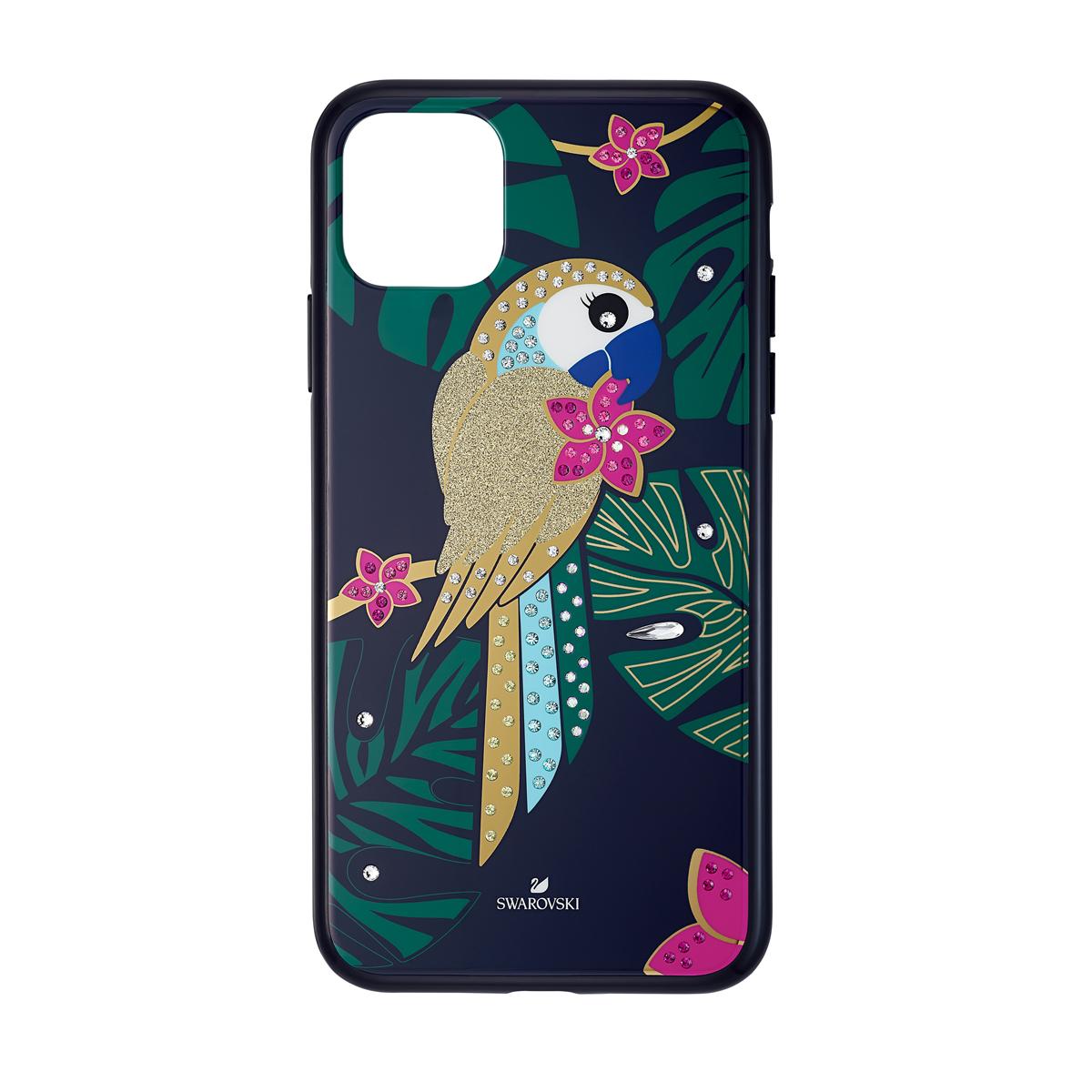 Swarovski Mobile Phone Case Tropical iPhone 11 Pro Max Case Multi Parrot
