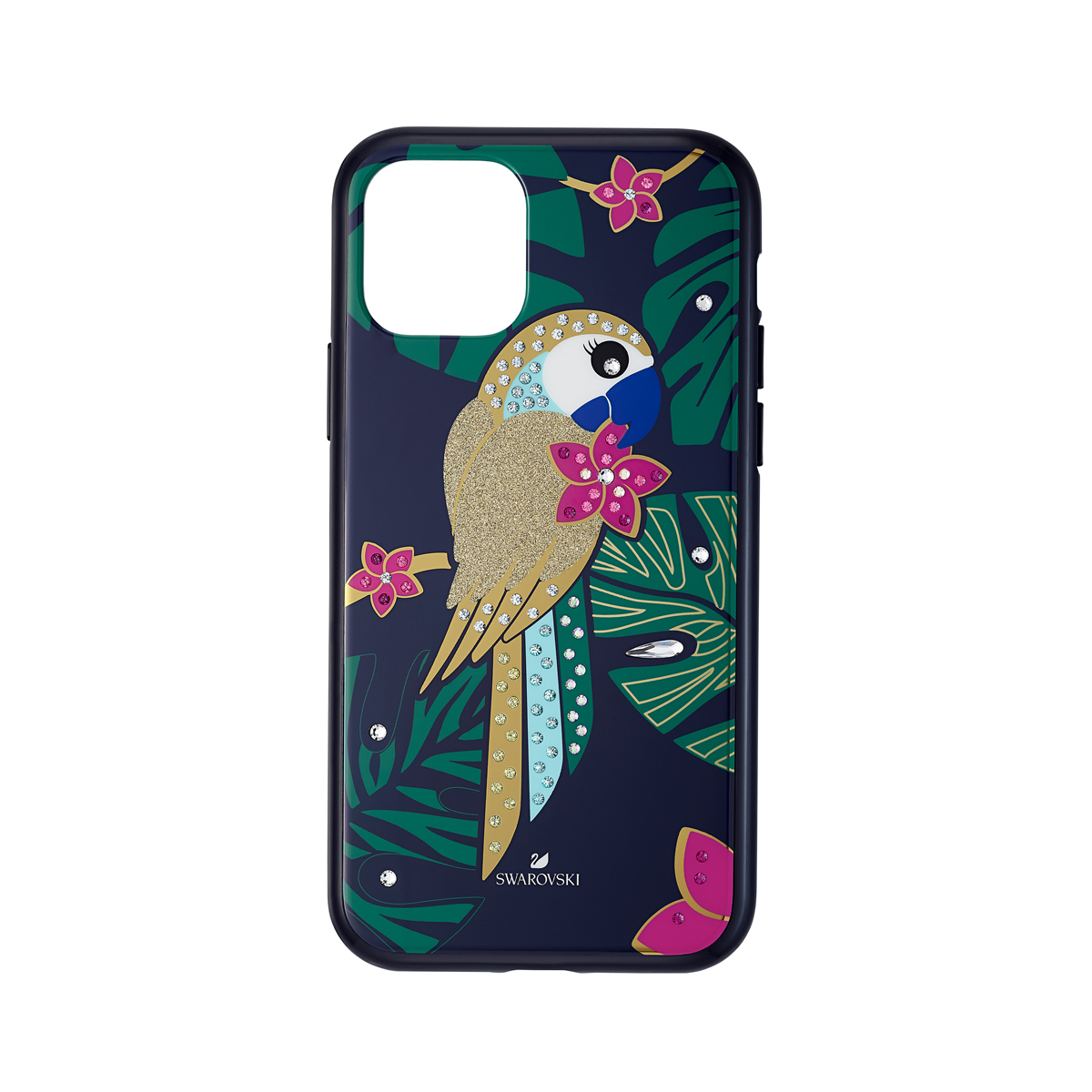 Swarovski Mobile Phone Case Tropical iPhone 11 Pro Case Multi Parrot
