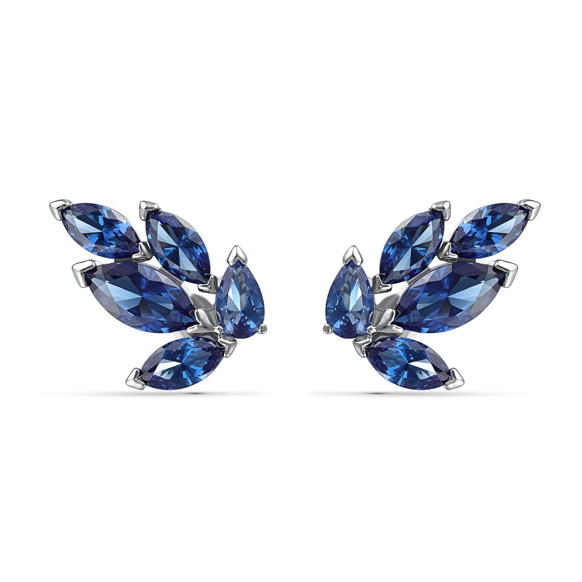 Swarovski Louison Pierced Earrings Stud Crystal Rhodium Silver Anni