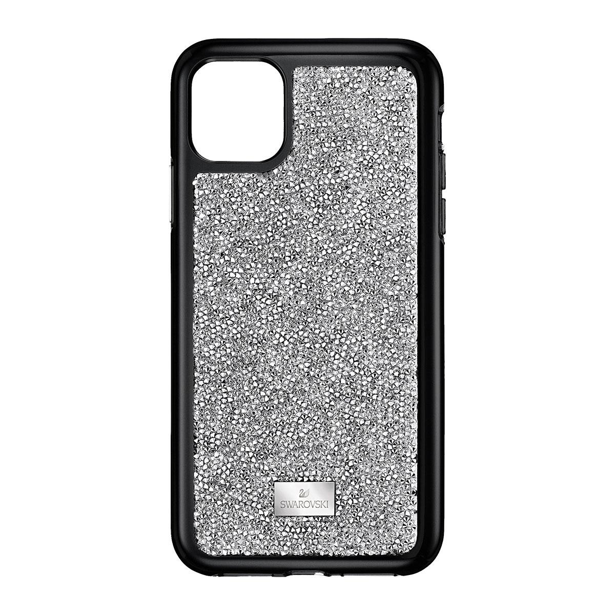 Swarovski Glam Rock Smartphone Case with Bumper, iPhone 11 Pro Max, Silver Tone