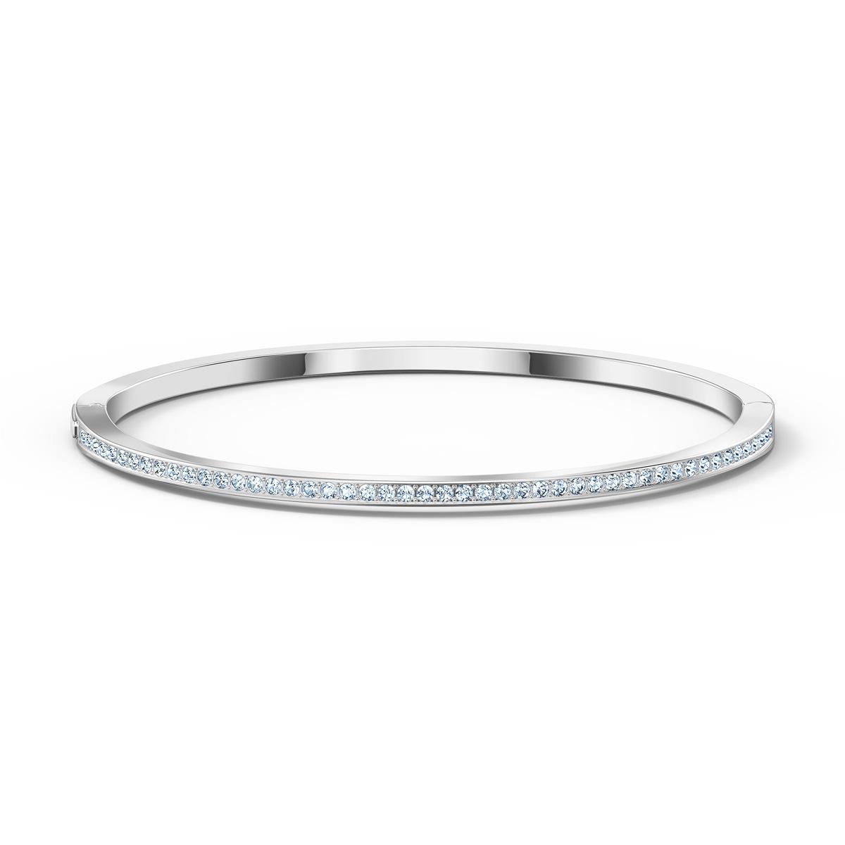 Swarovski Rare Bangle Bracelet, White, Rhodium Plated