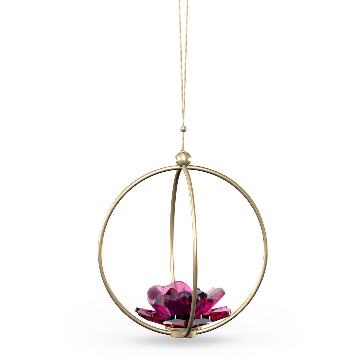 Swarovski Flowers Garden Tales Ball Ornament Rose Large