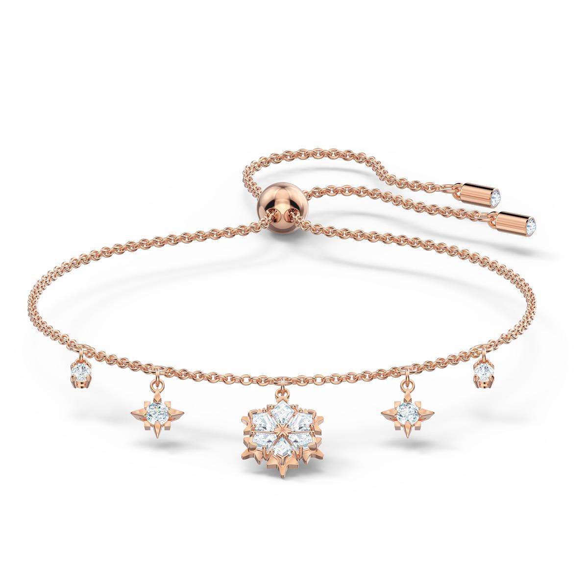 Swarovski Magic Bracelet, White, Rose Gold Tone Plated