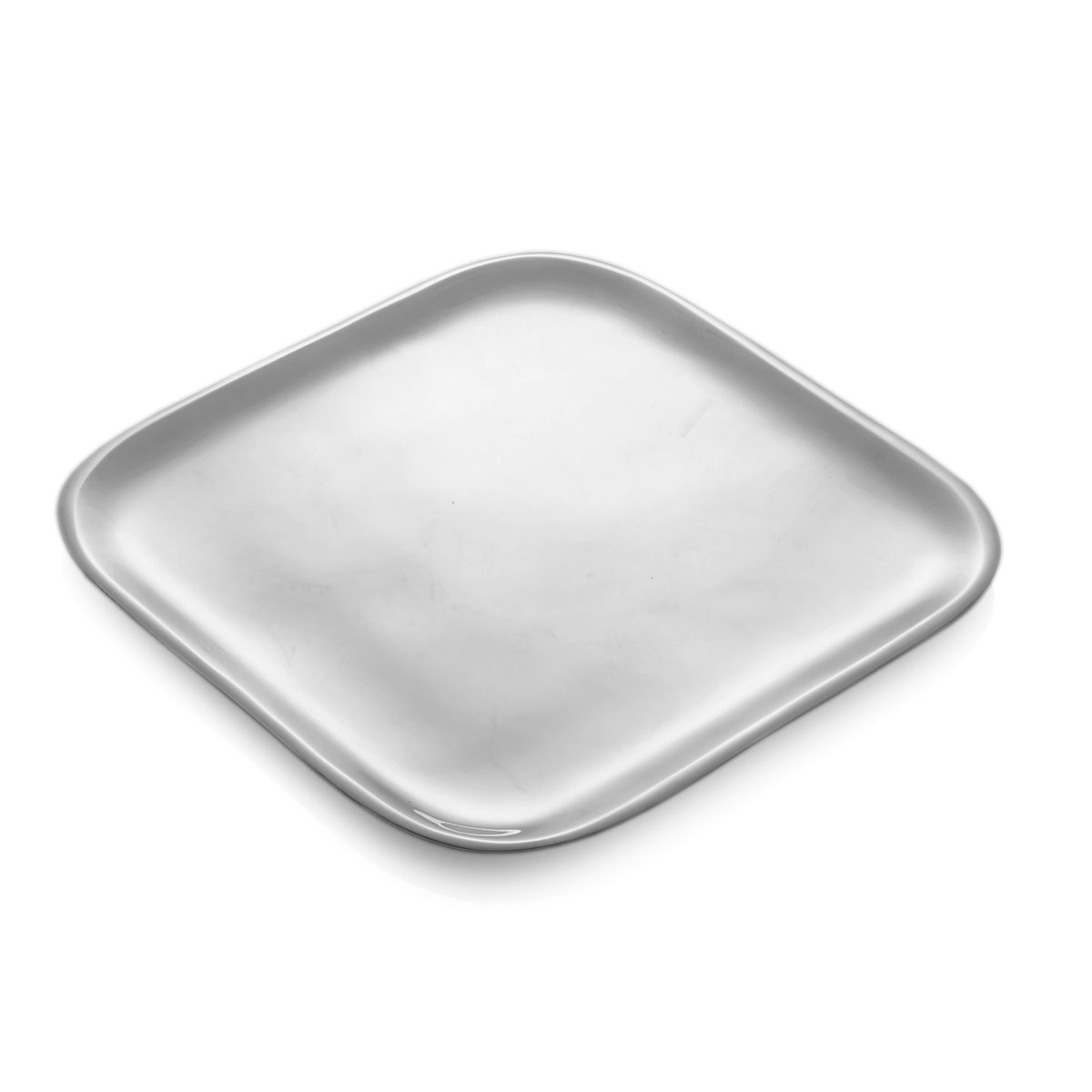 "Nambe Metal Square 9"" Salad Plate"