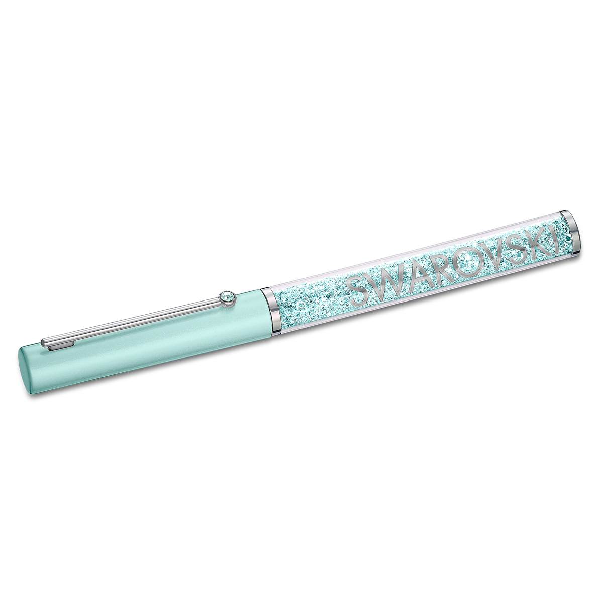 Swarovski Crystalline Gloss Ballpoint Pen, Green, Chrome Plated