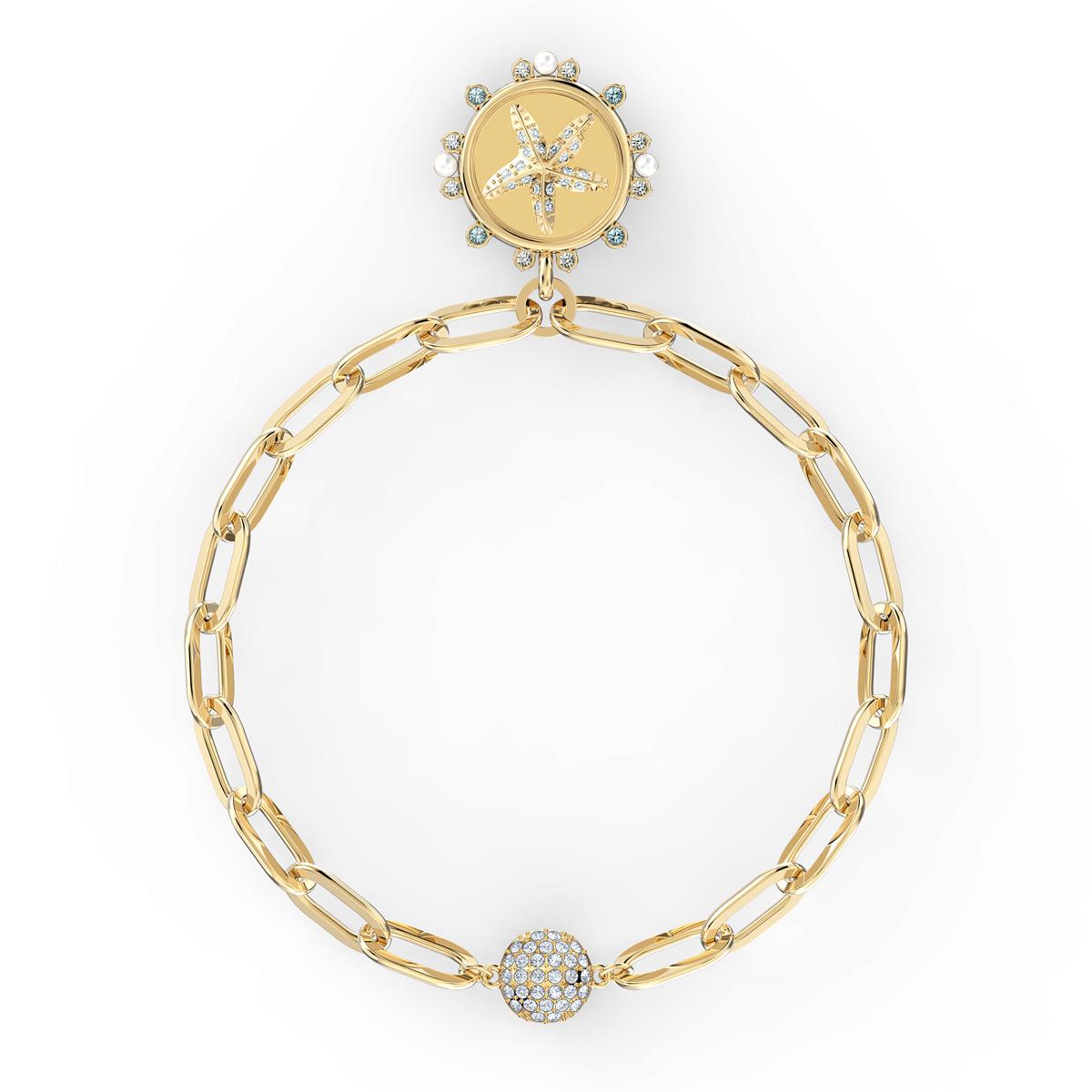Swarovski The Elements Star Bracelet, White, Gold Tone Plated