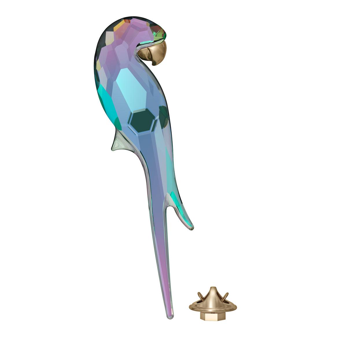 Swarovski Jungle Beats Magnet Parrot Shiny Green, Large