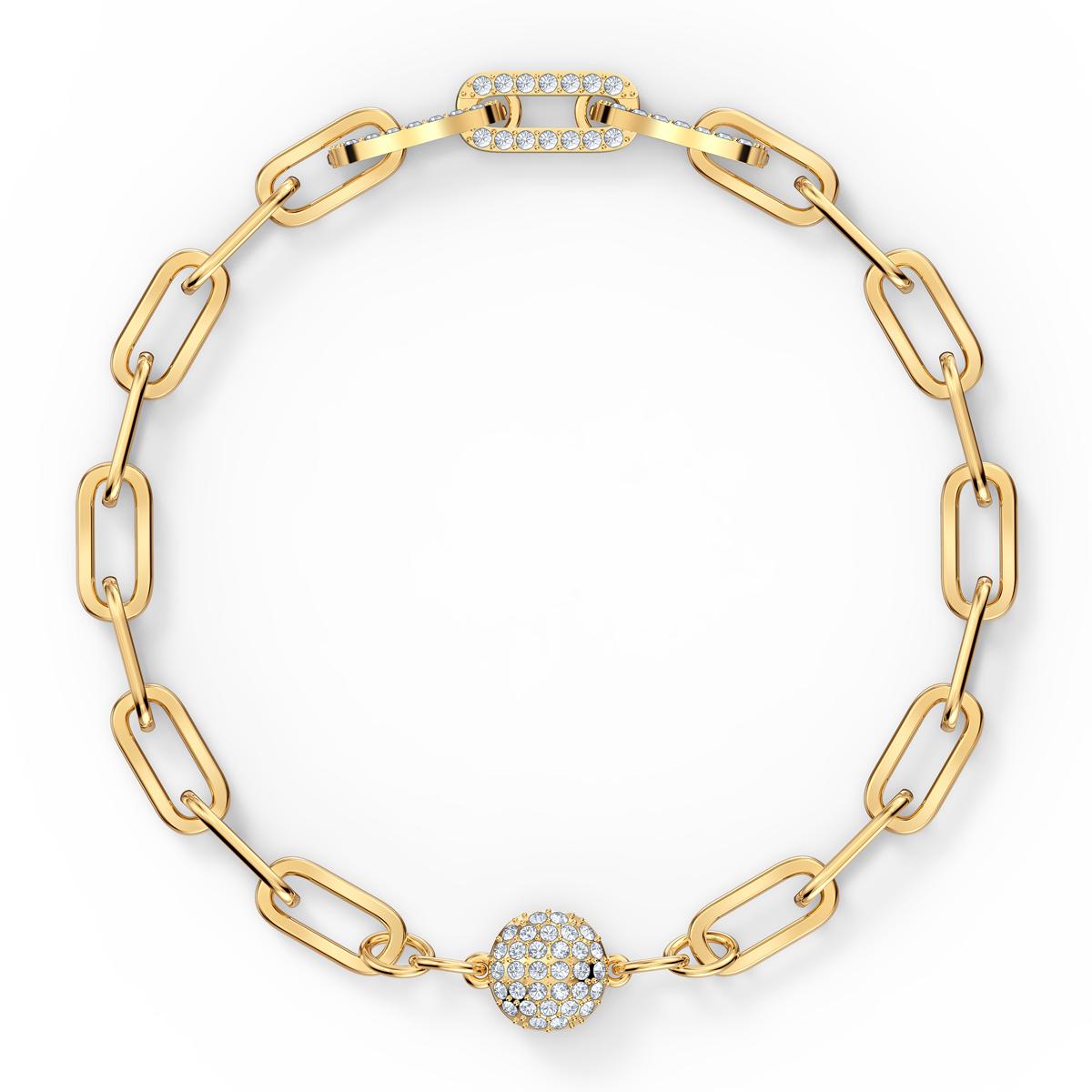 Swarovski The Elements Chain Bracelet, White, Gold Tone Plated