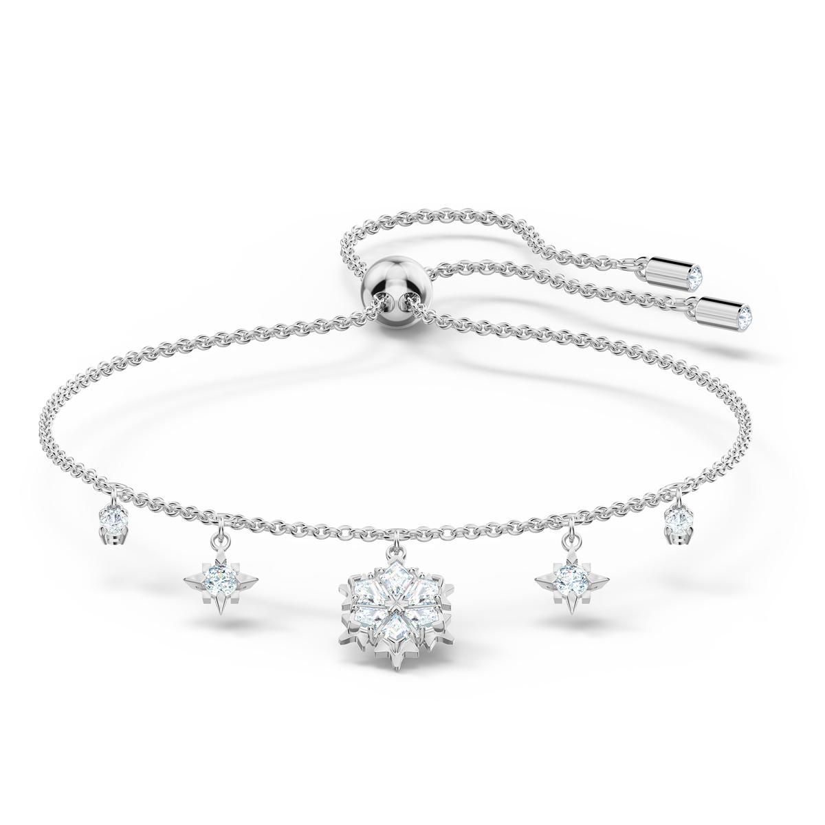 Swarovski Rhodium and Crystal Magic Snowflake Bracelet