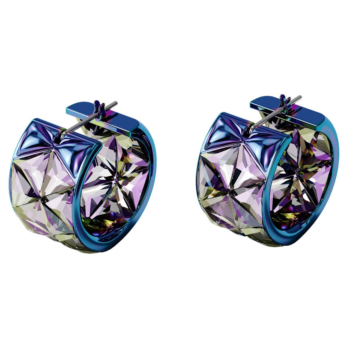 Swarovski Curiosa Earrings, Blue, Pair