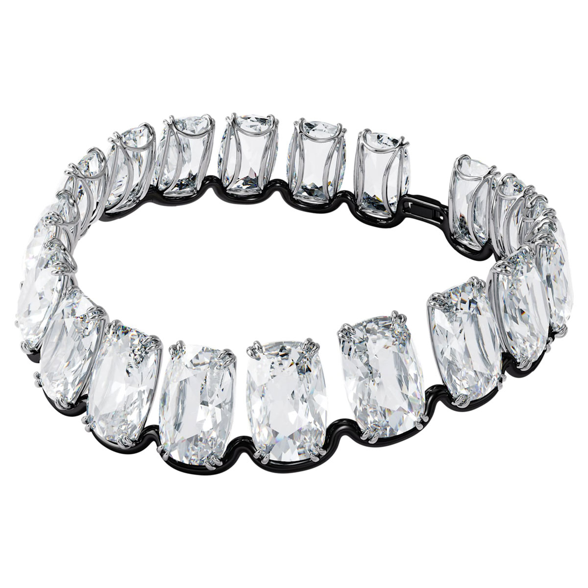 Swarovski Harmonia Choker Necklace , Oversized Floating Crystal, White, Mixed Metal Finish