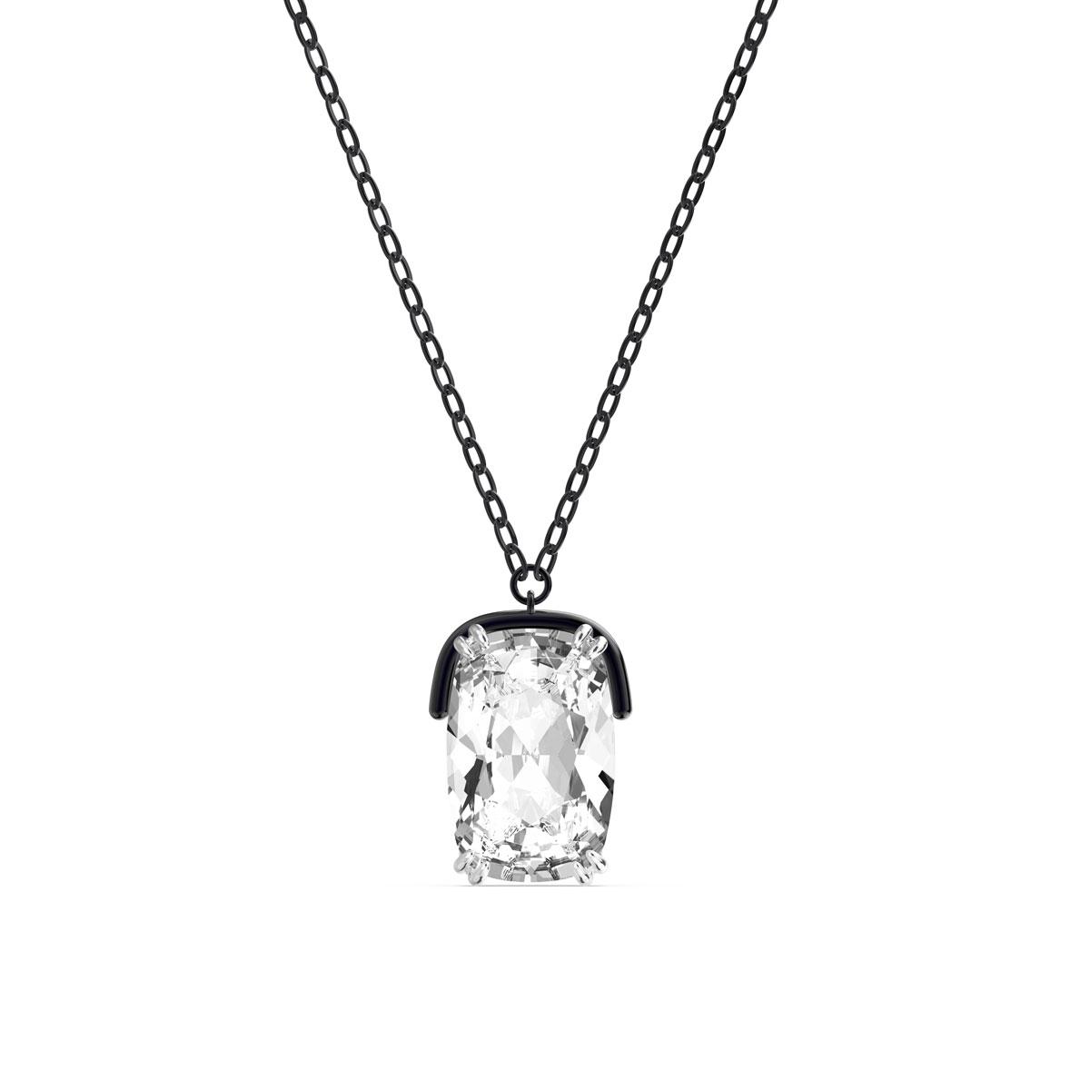 Swarovski Harmonia Pendant, Oversized Crystals, White, Mixed Metal Finish