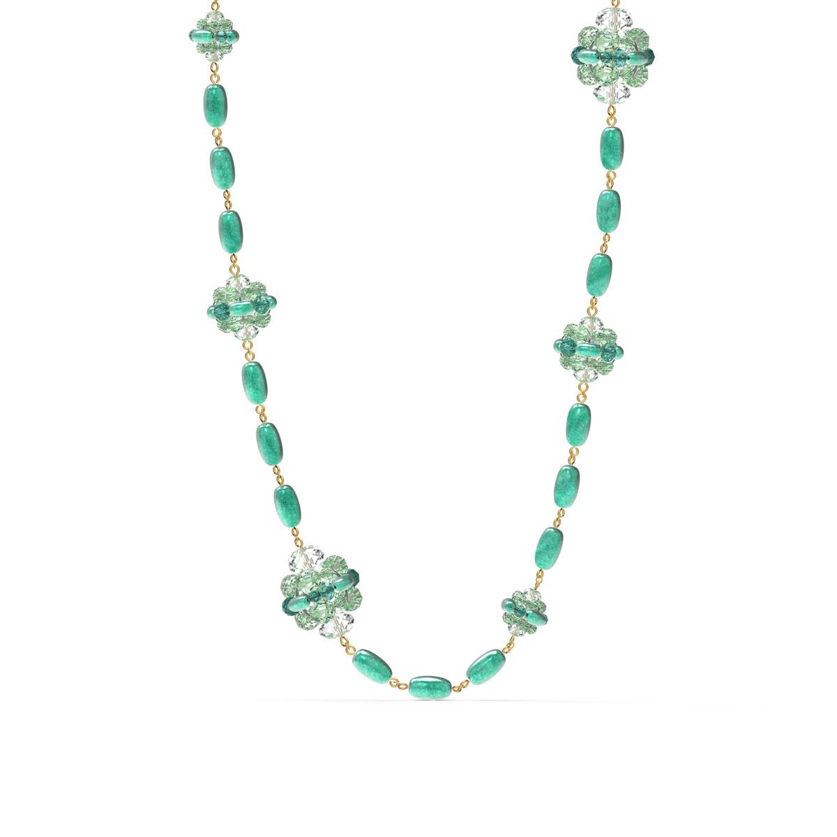 Swarovski Somnia Necklace, Green, Gold-Tone Plated