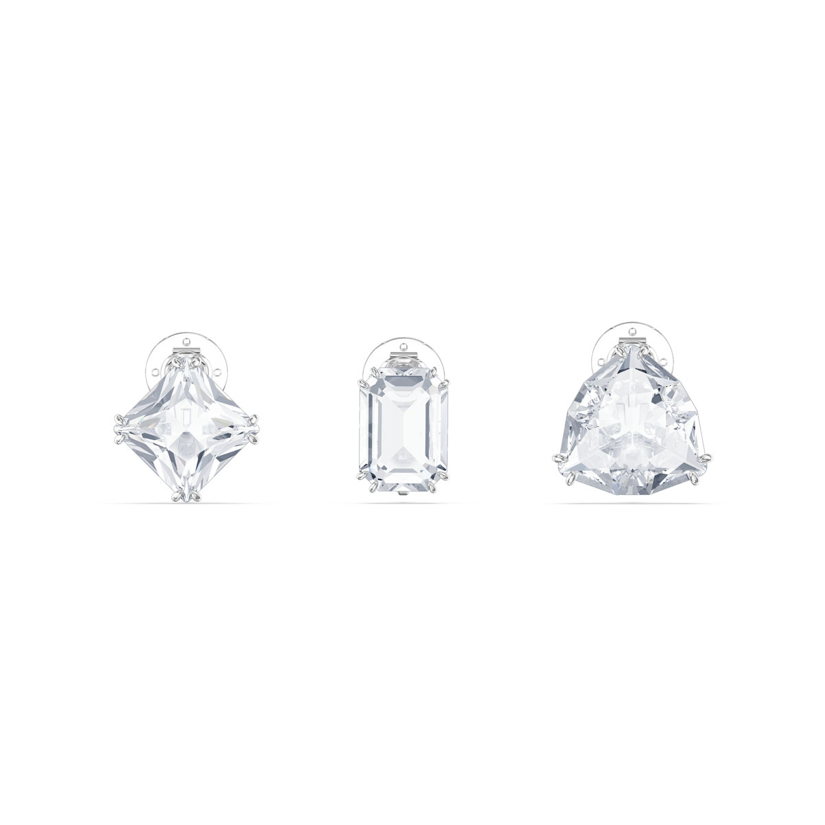 Swarovski Millenia Clip Earrings Single, Set, White, Rhodium Plated