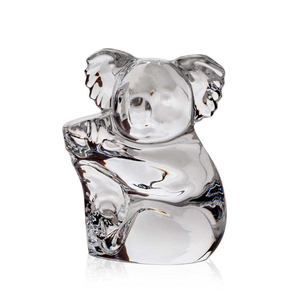 Steuben Crystal Koala Hand Cooler Paperweight