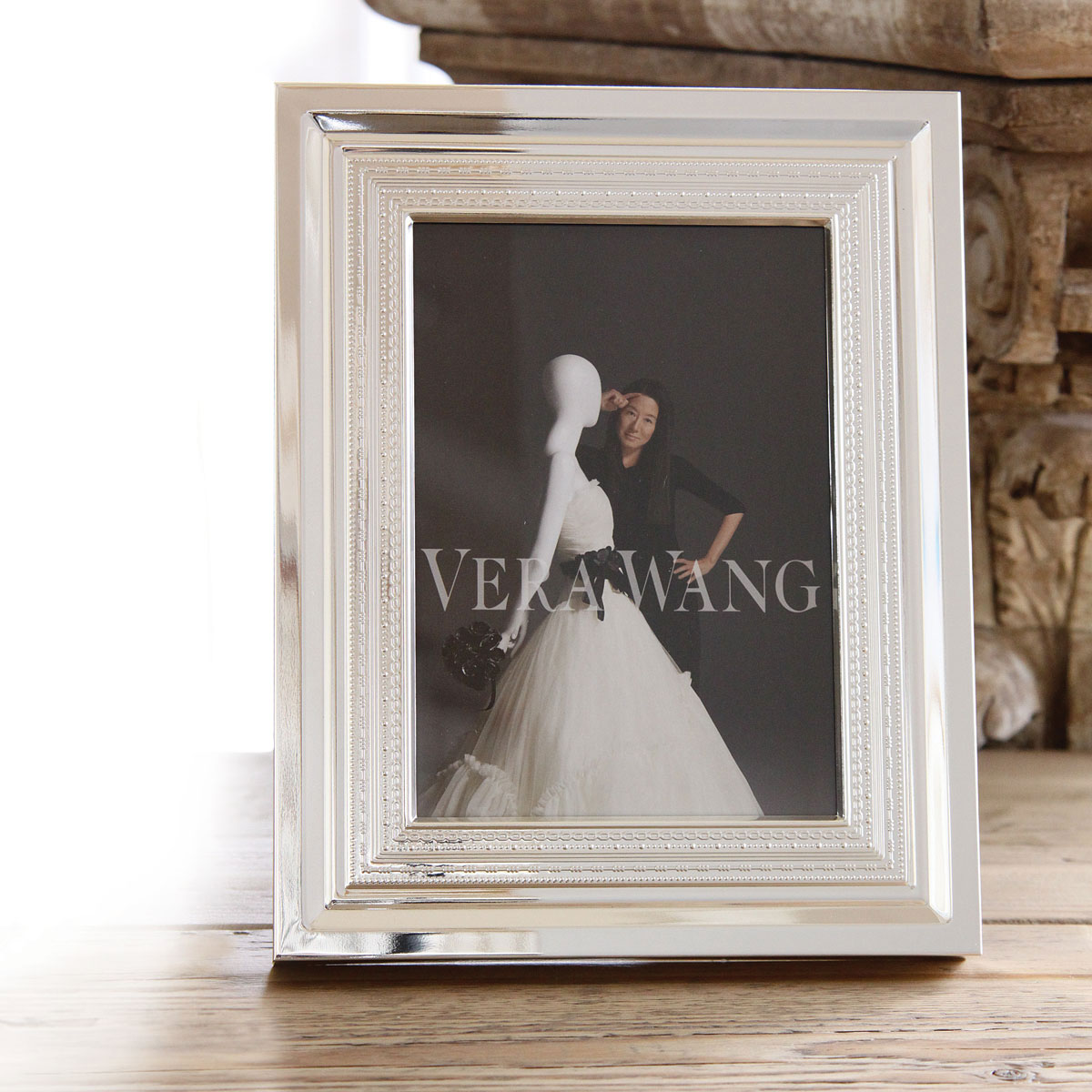 "Vera Wang Wedgwood With Love Silver 5x7"" Picture Frame"