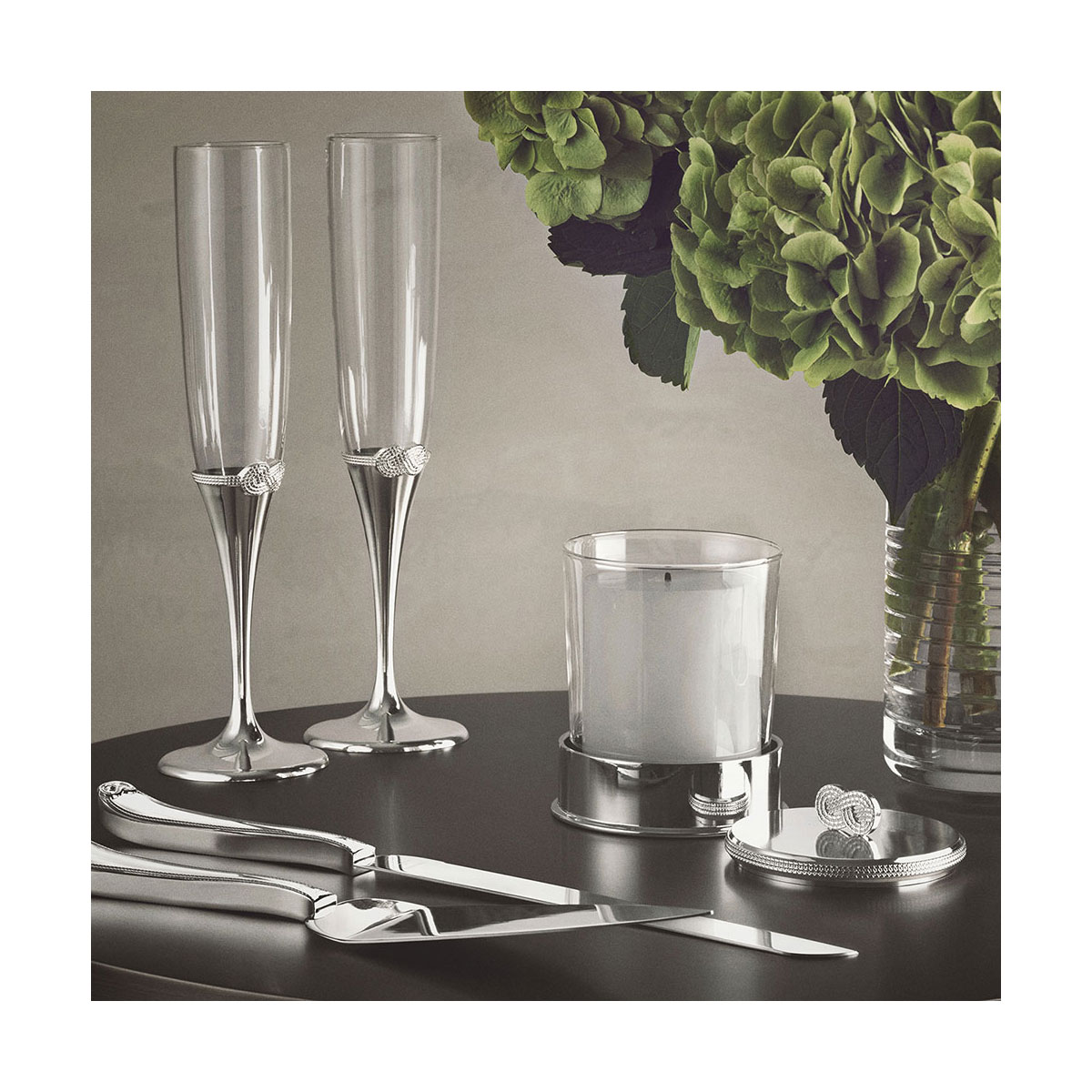 Vera Wang Wedgwood Silver Infinity Cake Knife and Server Set