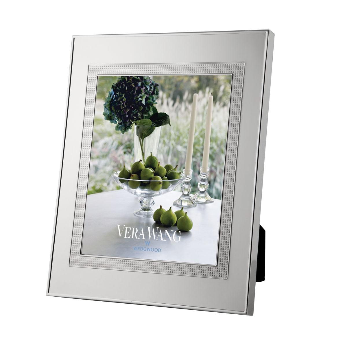 "Vera Wang Wedgwood Silver Plate Blanc Sur Blanc Frame, 5x7"""