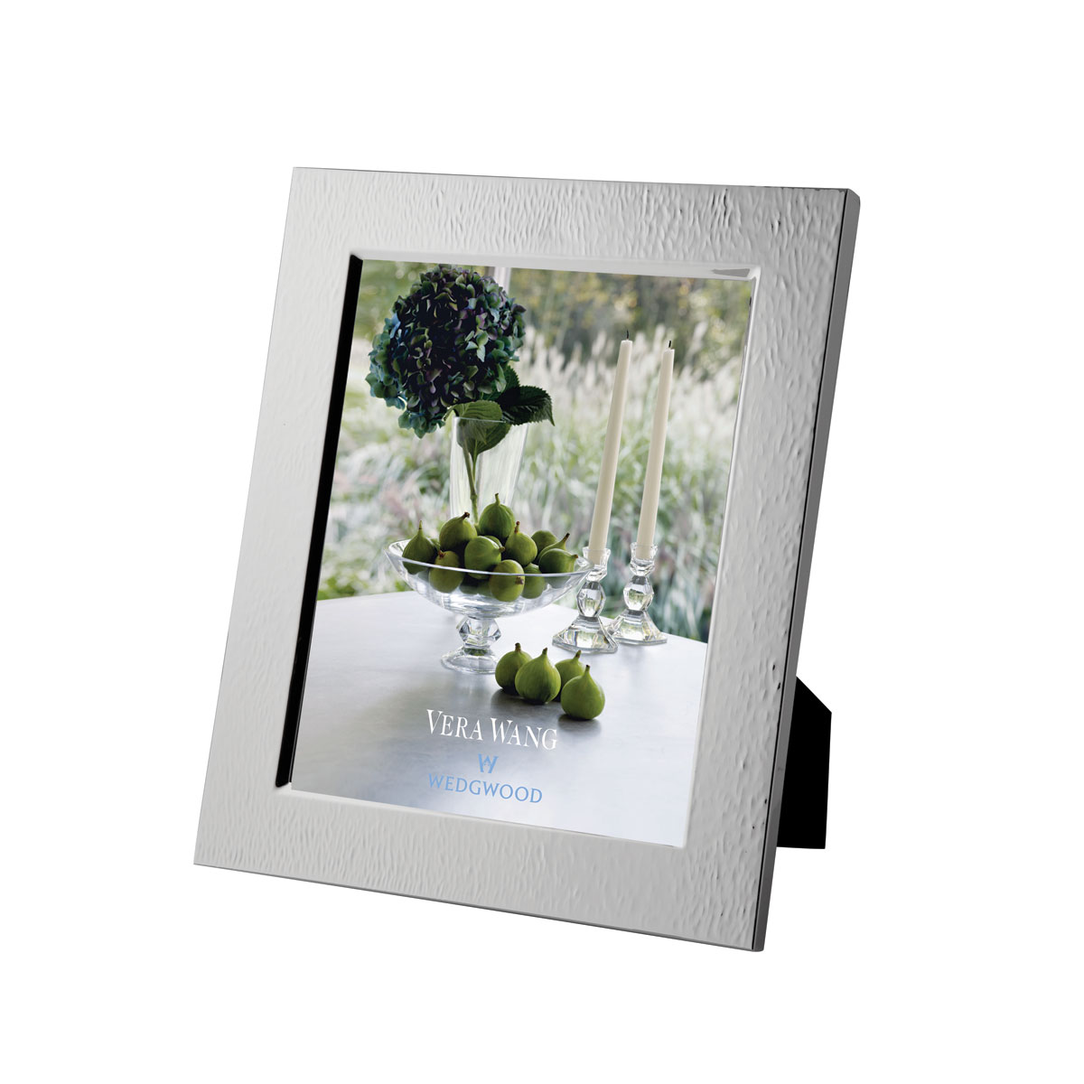 """Vera Wang Wedgwood Silver Plate Hammered 8x10"""" Picture Frame"""