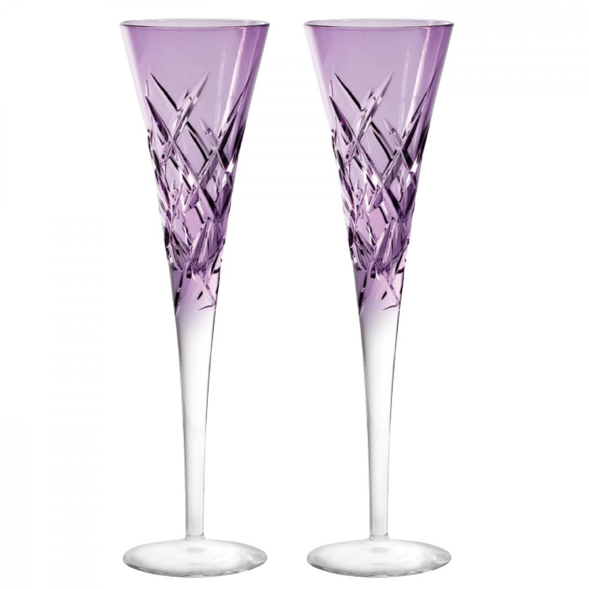 Vera Wang Wedgwood, Duchesse Encore Lavender Toasting Crystal Flutes, Pair