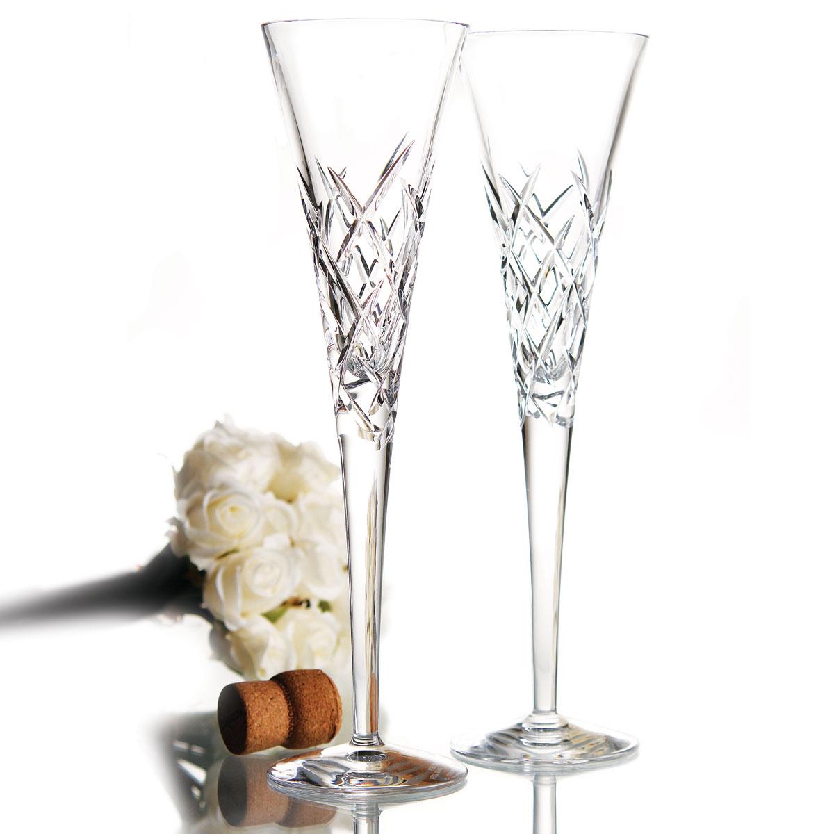 Vera Wang Wedgwood, Duchesse Encore Clear Crystal Flutes, Pair