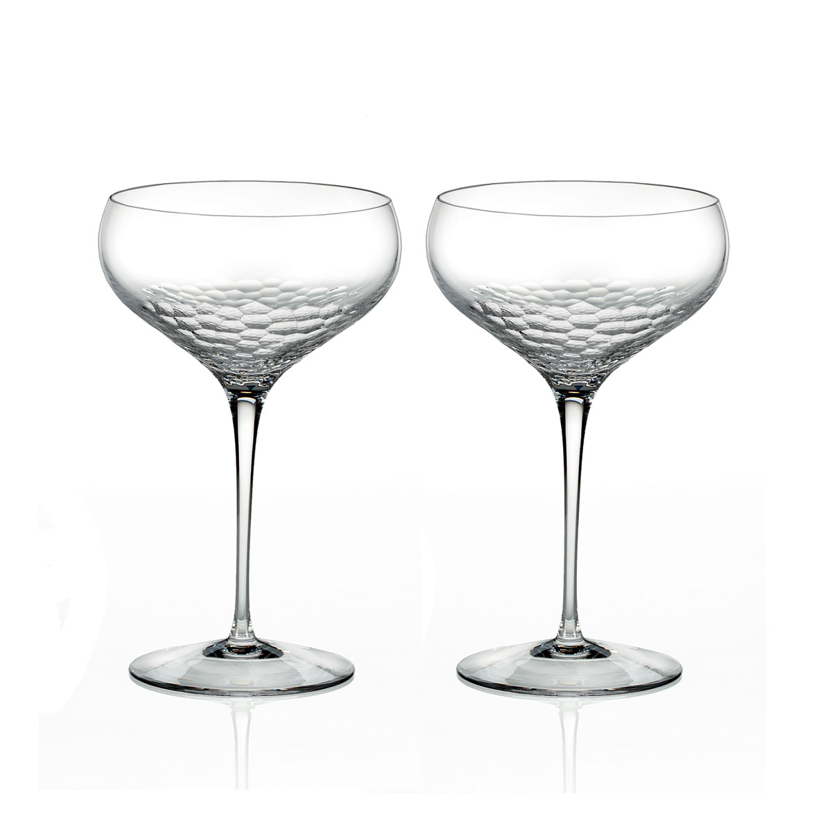 Vera Wang Wedgwood, Sequin Saucer Crystal Champagne Pair