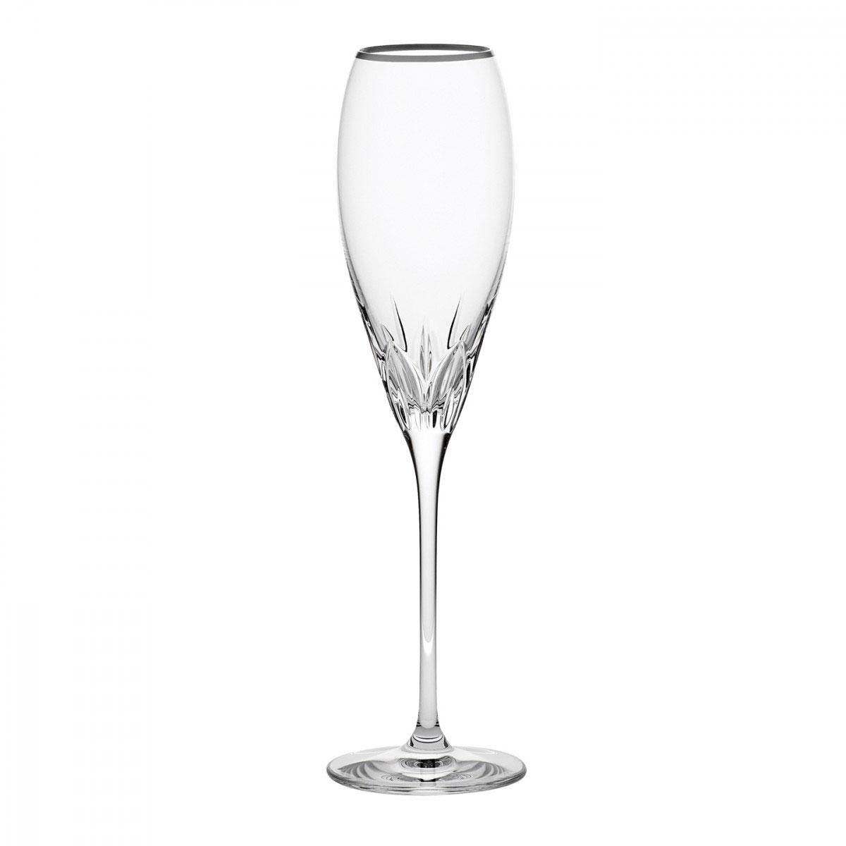 Wedgwood Knightsbridge Platinum Crystal Flute, Single