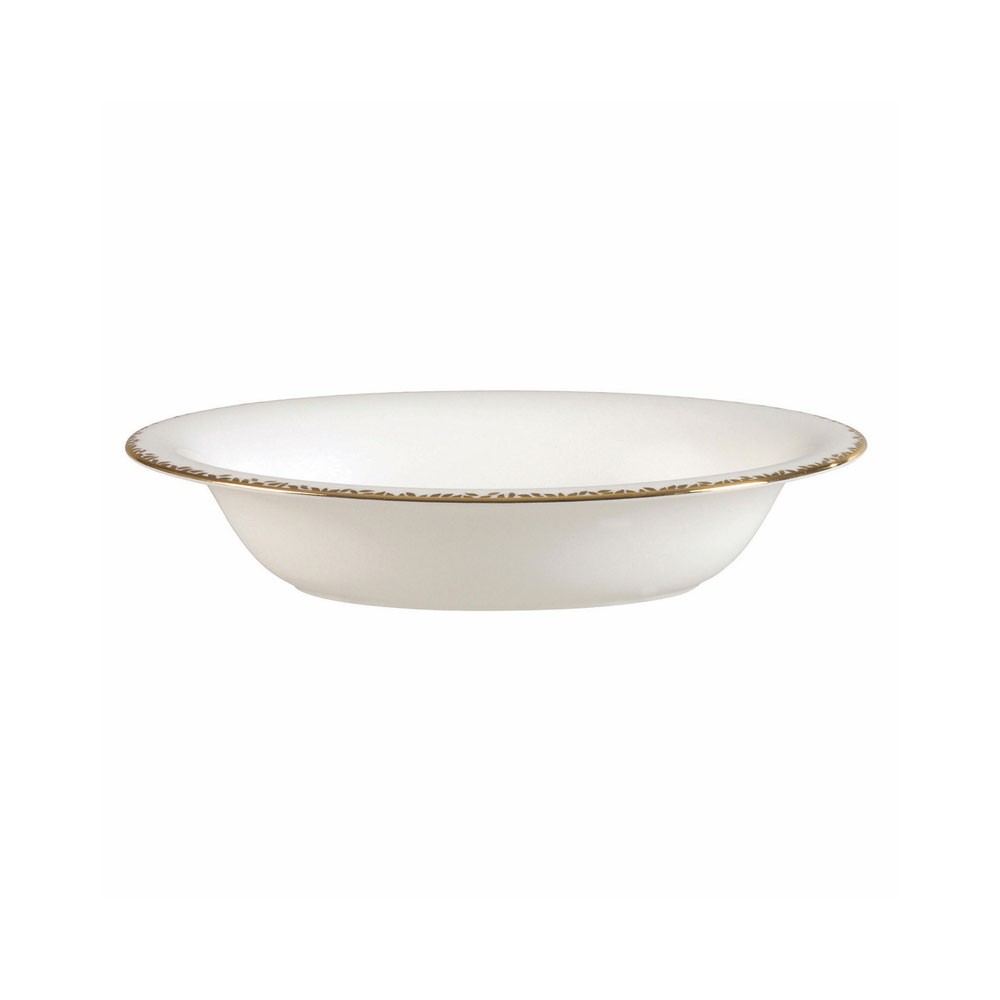 Vera Wang Wedgwood China Gilded Leaf Open Oval Vegetable Bowl