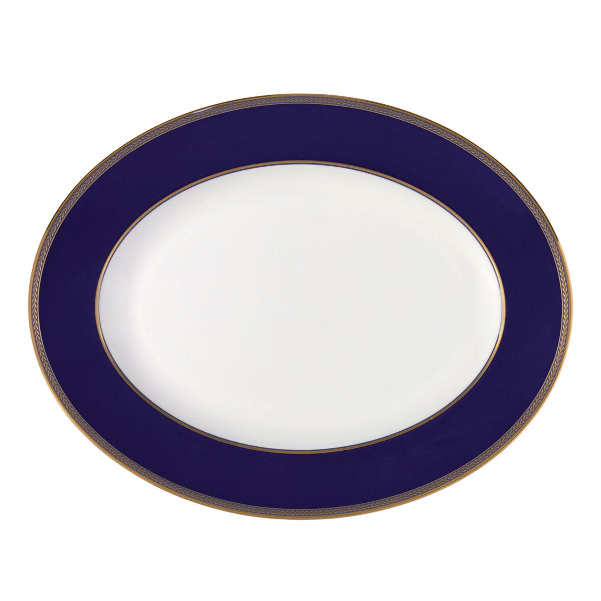 """Wedgwood Renaissance Gold Oval Platter 13.75"""""""