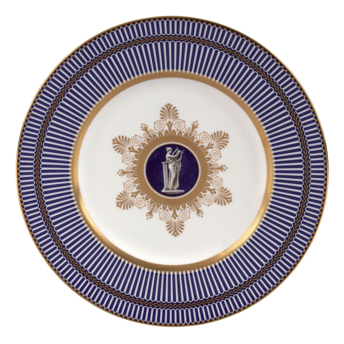 """Wedgwood Anthemion Blue Accent Salad Plate 9"""""""