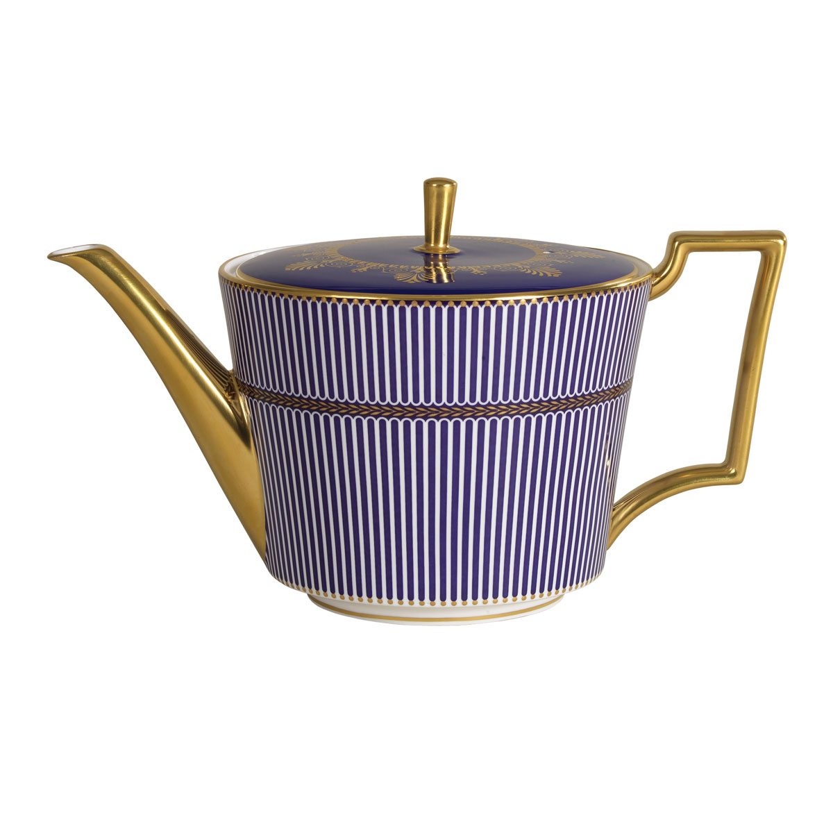 Wedgwood Anthemion Blue Teapot