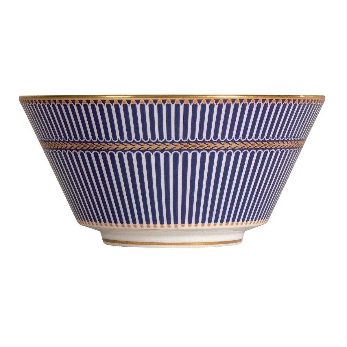 "Wedgwood Anthemion Blue All Purpose Bowl 6"""