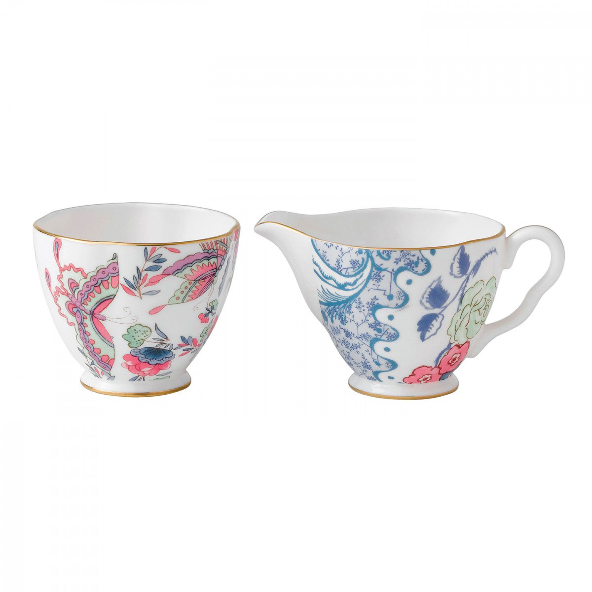 Wedgwood China Butterfly Bloom Tea Story - Creamer and Sugar