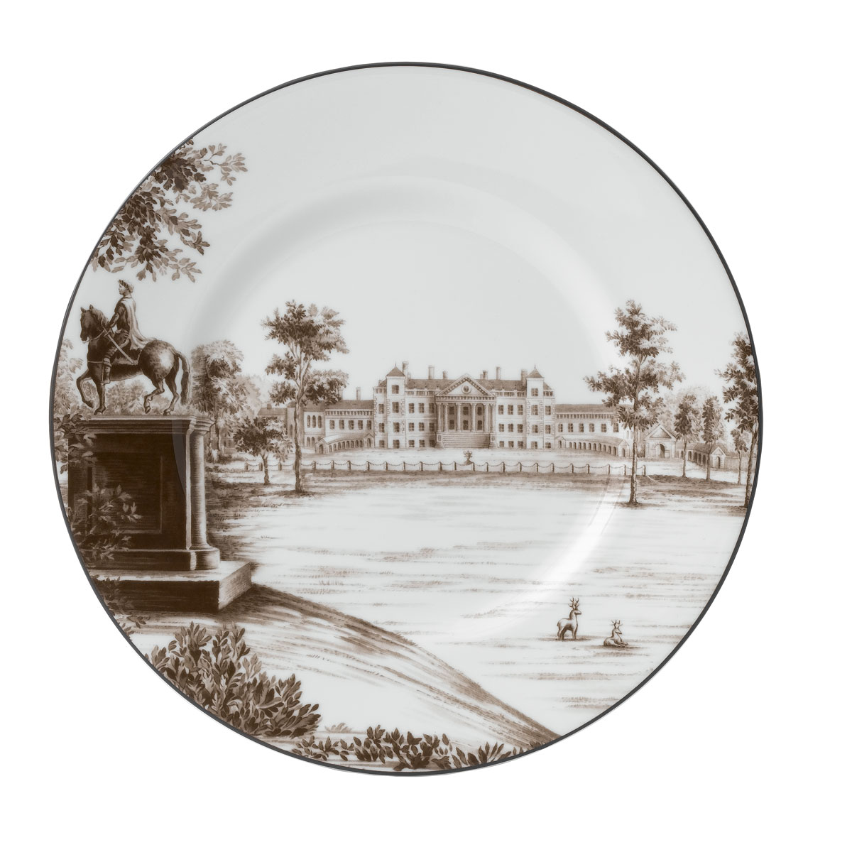 """Wedgwood China Parkland Accent Plate 9"""" Stowe House"""