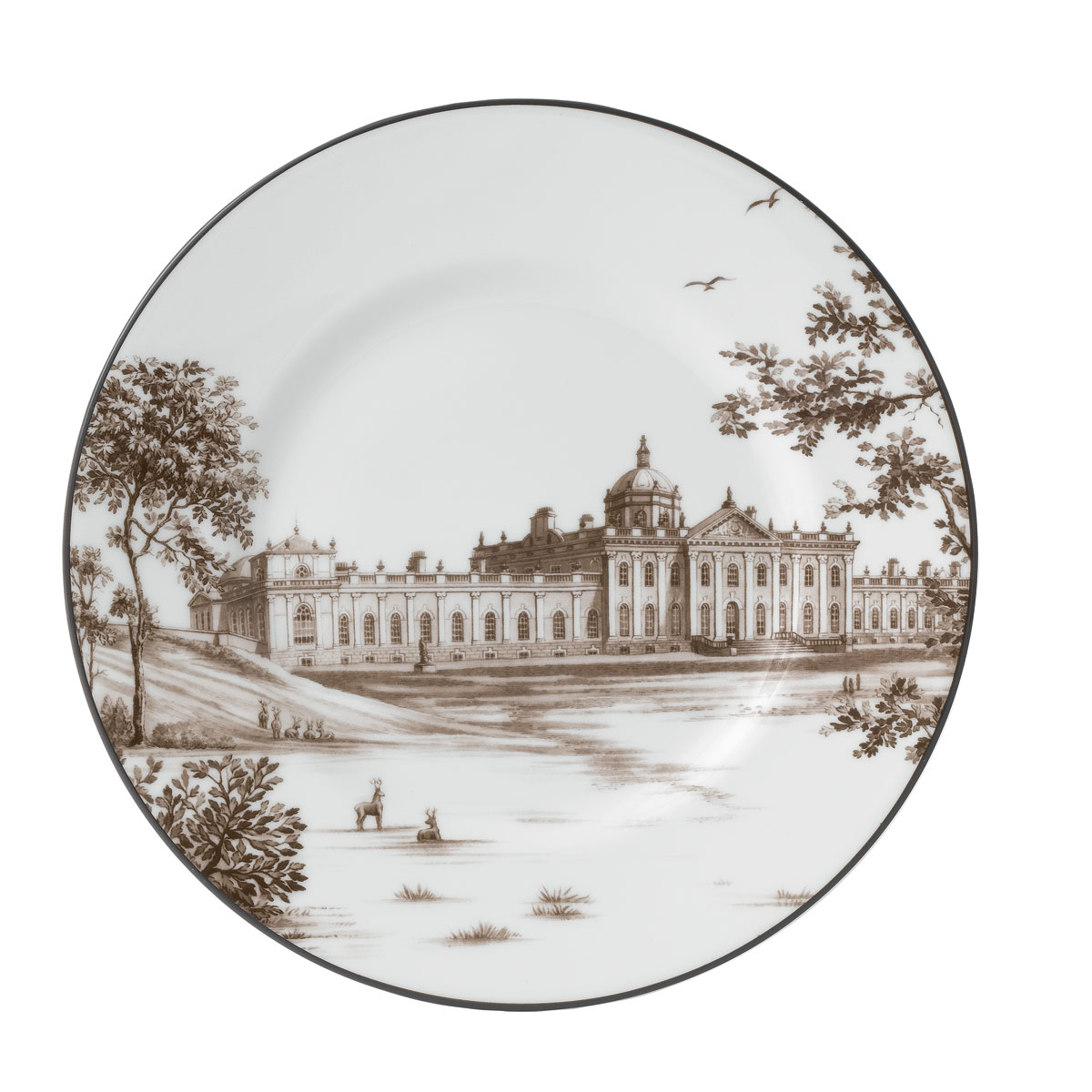 """Wedgwood China Parkland Accent Plate 9"""" Castle Howard"""