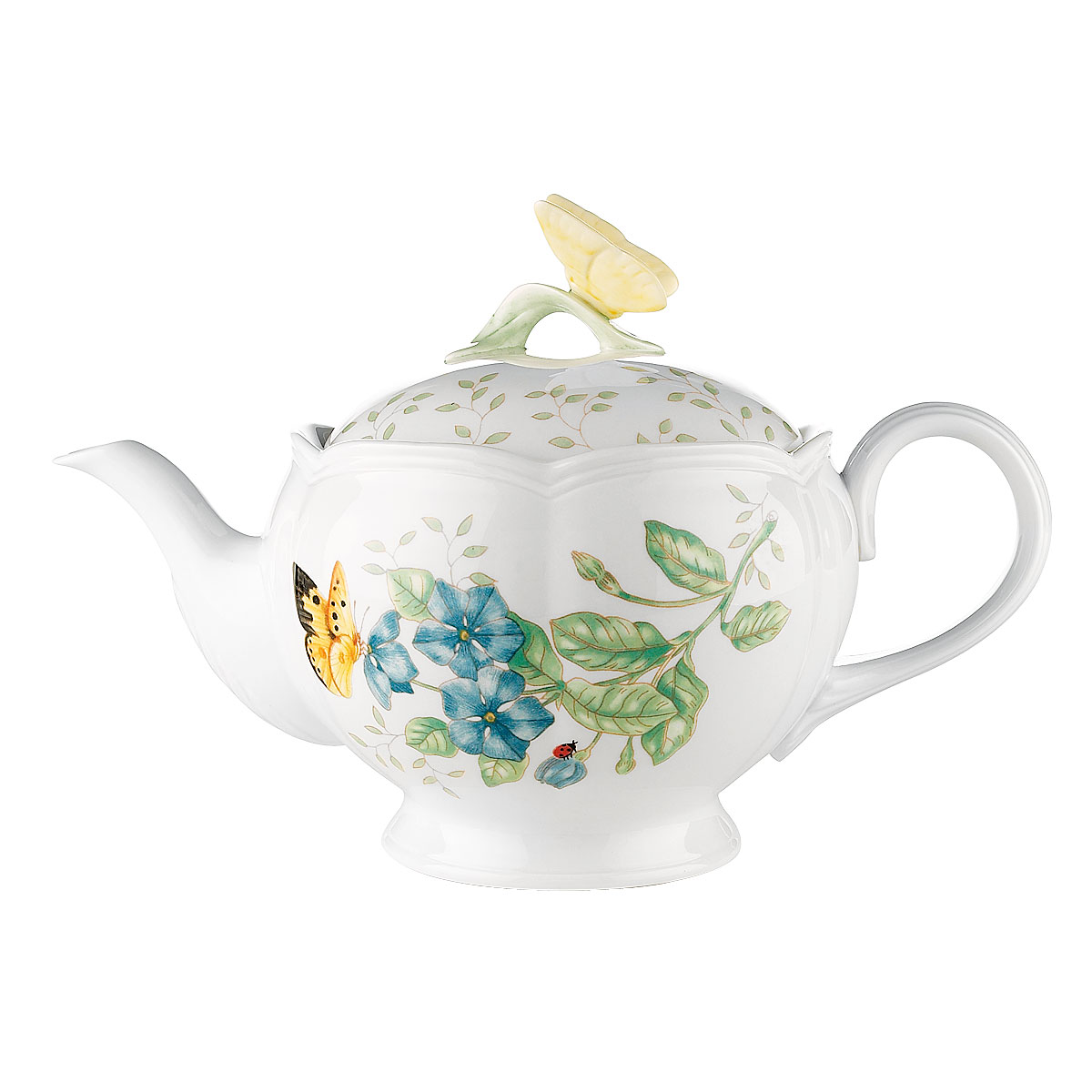Lenox Butterfly Meadow Dinnerware Teapot With Lid
