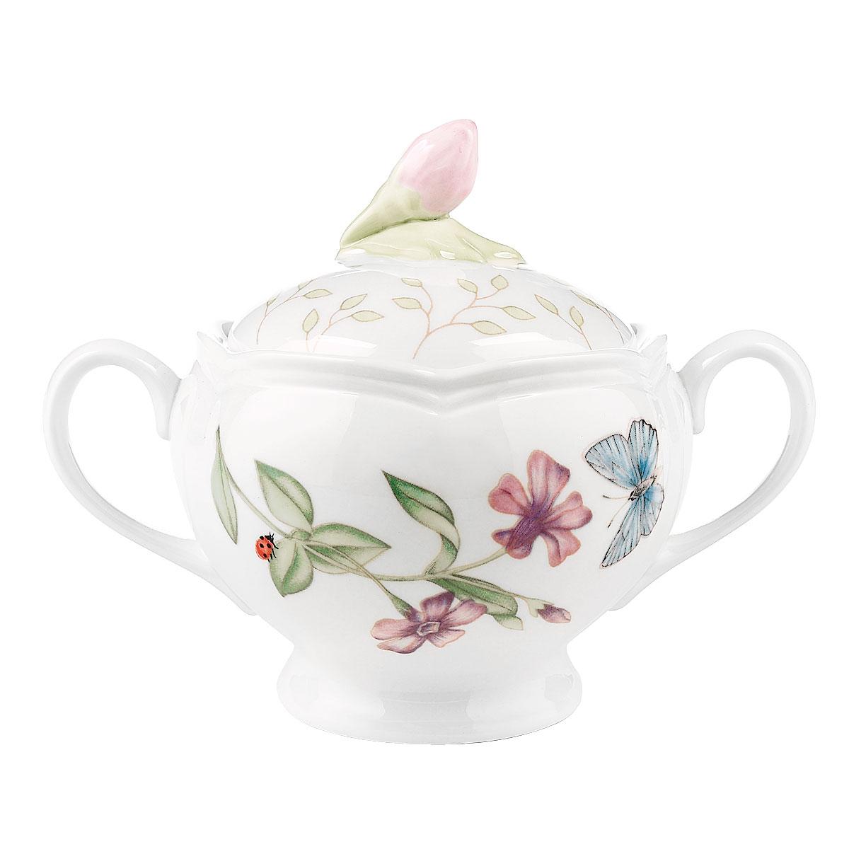 Lenox Butterfly Meadow Dinnerware Sugar Bowl With Lid